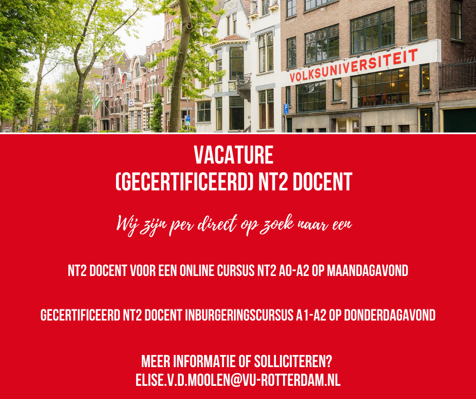 Vacature NT2 docent